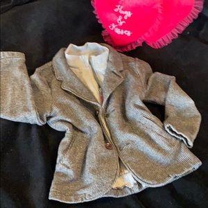 Osh Kosh super cute & soft layered look jacket